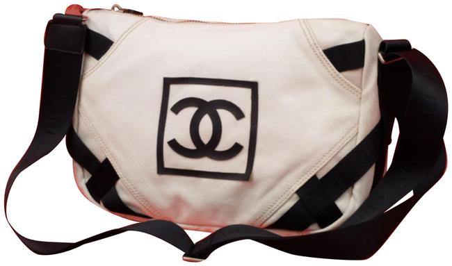Item - Bicolor Cc Logo Sports 233994 Natural White Canvas Messenger Bag