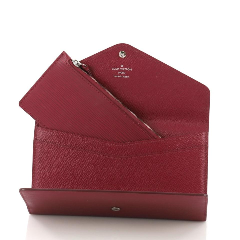5fa963711125 Louis Vuitton Louis Vuitton Josephine Wallet  with Insert  Red Epi Leather .