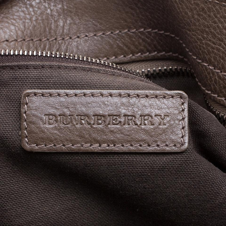 Burberry Khaki Perforated and Suede Bartow Brown Leather Hobo Bag ... 86d2e9ddfea96