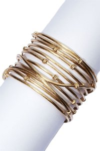 Rivka Friedman 18K Gold Clad Wrapped Knotted Mina Cuff