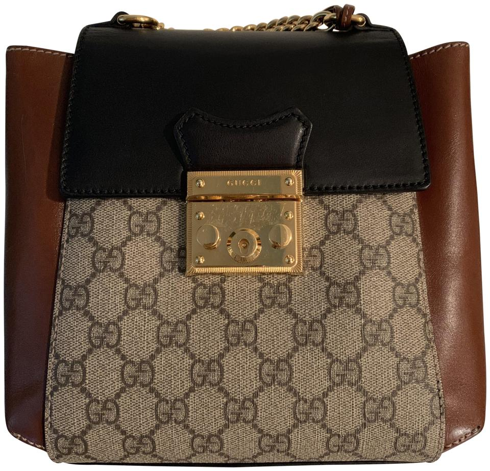5d71c855ed4c Gucci Padlock GG Supreme Brown Leather Backpack - Tradesy