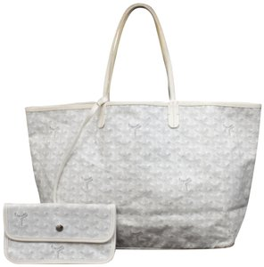Goyard St Louis Neverfull Tote in WHITE