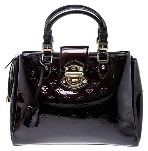 827518a57b6f Louis Vuitton Patent Leather Fabric Tote in Burgundy