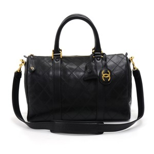 c6c351d65ab6 Added to Shopping Bag. Chanel Black Travel Bag. Chanel Speedy Vintage Boston  Quilted ...