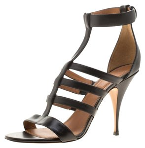 Givenchy Leather Strappy Black Sandals