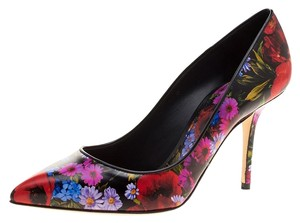 Dolce&Gabbana Leather Pointed Multicolor Pumps