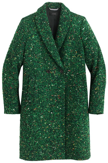 Item - Green New with Tag Daphne In Italian Tweed Peacock Coat Size 12 (L)