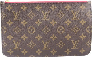 Louis Vuitton Neverfull Canvas Brown Clutch
