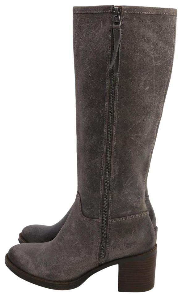 c708f9cc612 Lucky Brand Grey Leather Knee High Boots Booties Size US 8 Regular ...