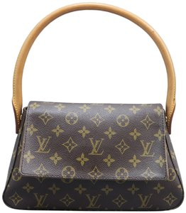 Louis Vuitton Lv Looping Monogram Canvas Mini Satchel in BROWN