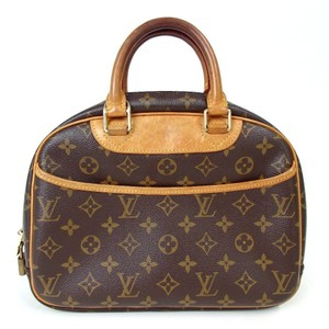 Louis Vuitton Trouville Satchel Brown Monogram Canvas Shoulder Bag ... a9e78978a688