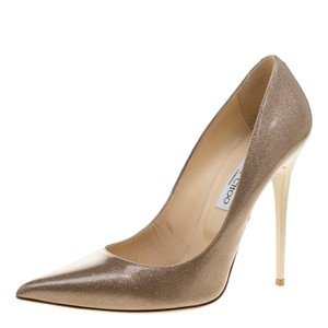 Jimmy Choo Patent Leather Pointed Beige Pumps