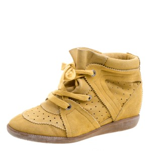 Isabel Marant Suede Lace Yellow Wedges