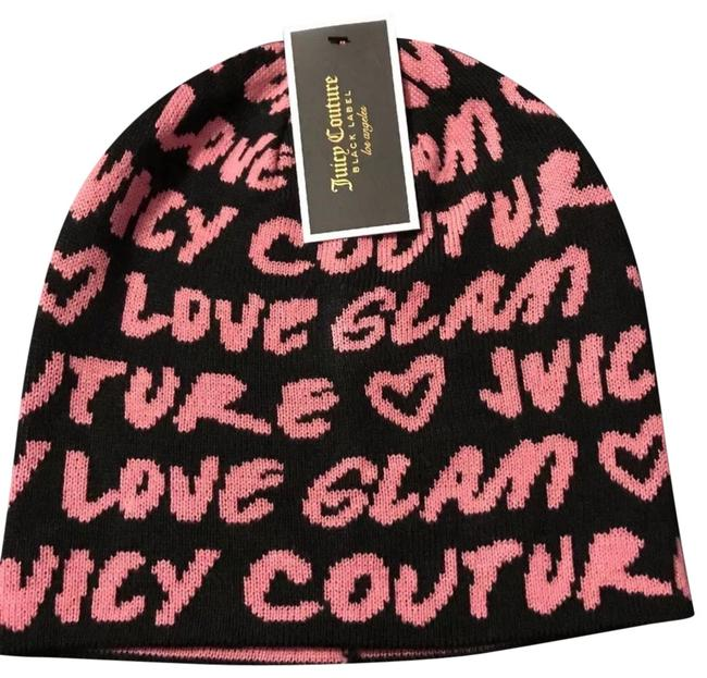 Item - Black & Pink Graffiti Beanie Hat