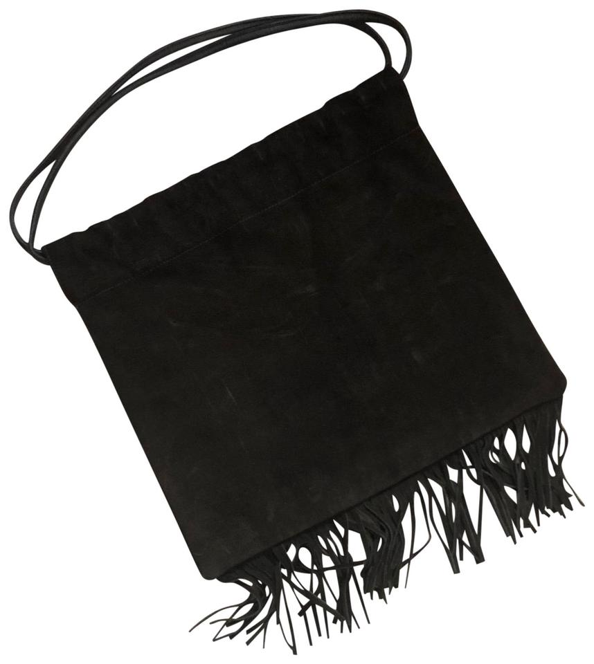 39a437b256 J.Crew The Vintage Suede Fringed Brown Leather Tote - Tradesy
