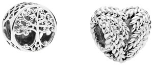 PANDORA Family Roots Charm & Icon of Nature Charm