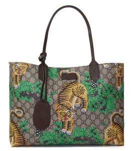 Gucci Crossbody Leather 412096 Bengal Bengal Tote in Multicolor