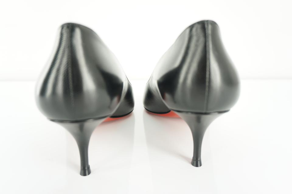 online retailer e5e58 b372f Christian Louboutin Black Patent Leather 17th Floor 55mm Mid Heel Pointed  Pumps Size EU 37.5 (Approx. US 7.5) Regular (M, B) 30% off retail