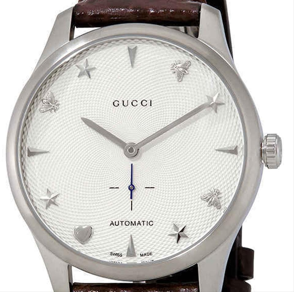 b0f415b789c Gucci G-Timeless Automatic Dial Men s Alligator Leather Watch Image 2. 123