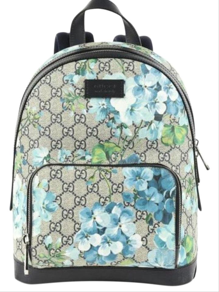 fca366d1a87 Gucci  546327 Blooms Small with Blooms Box Multicolor Gg Supreme Coated Canvas  Backpack