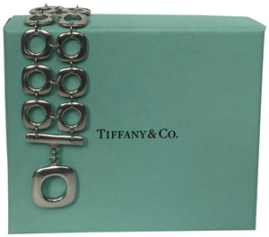 Tiffany & Co. Tiffany and Co Square Double Row Link Toggle Bracelet