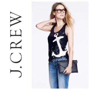 J.Crew Top navy and white