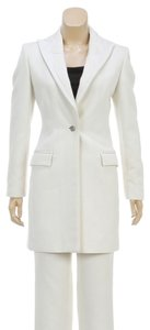 Versace Versace Cream Single Button Jacket and Pant Suit (Size 40)