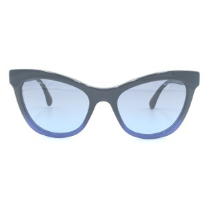 7cfb0390a5 Chanel Cat Eye Black Blue Gradient Sunglasses 5350 1558 S2