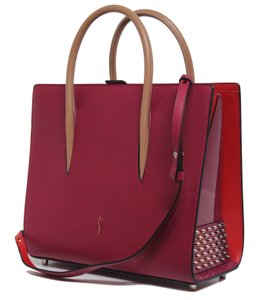 Christian Louboutin New Medium Paloma Loulou Pink Calfskin Leather Tote 24 Off Retail