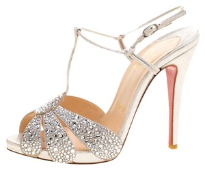 Christian Louboutin Crystal Studded Suede Sandals