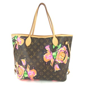 Louis Vuitton Kusama Giant Jungle Race Virgil Tote in Brown