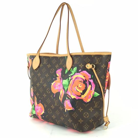 Louis Vuitton Kusama Giant Jungle Race Virgil Tote in Brown Image 1