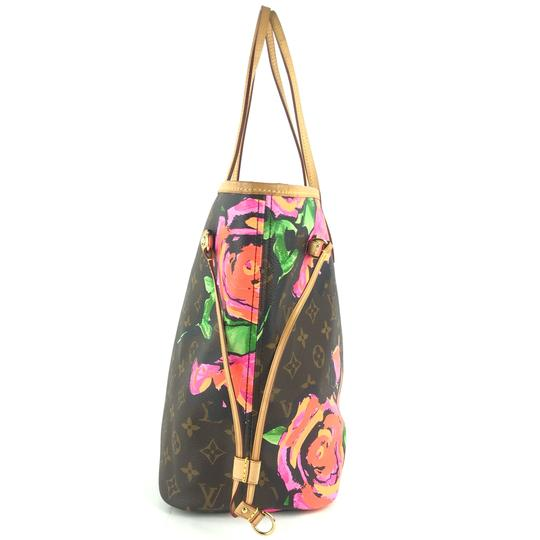 Louis Vuitton Kusama Giant Jungle Race Virgil Tote in Brown Image 8