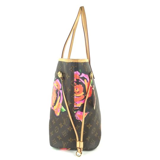 Louis Vuitton Kusama Giant Jungle Race Virgil Tote in Brown Image 9