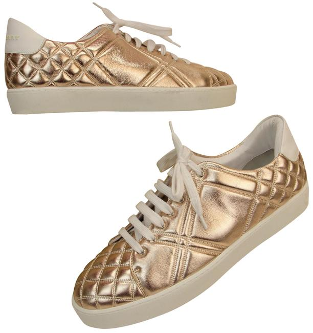 Item - Gold Westford Metalic Nude Patent Leather Quilted Lace Up 11 Sneakers Size EU 41 (Approx. US 11) Regular (M, B)