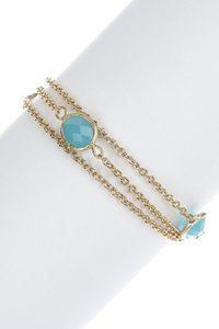 Rivka Friedman 18K GOLD CLAD FACETED QUARTZITE 3-ROW CABLE LINK BRACELET