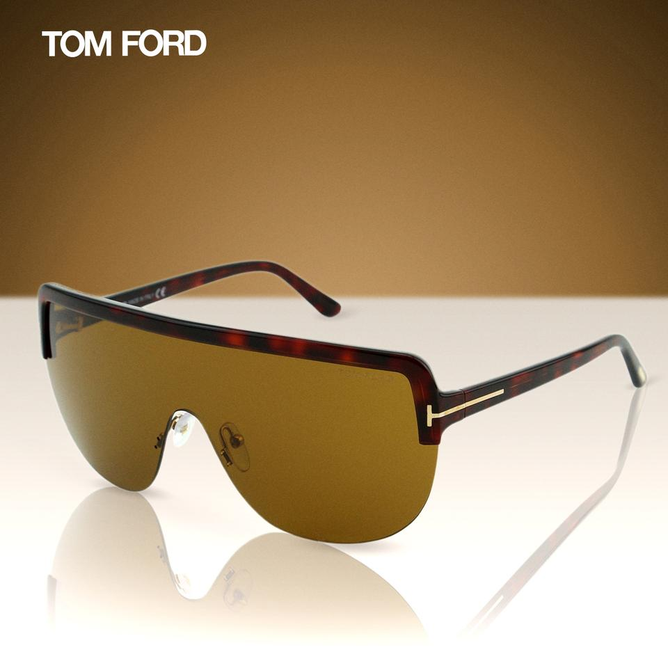 0fb4b9c9d516 Tom Ford Brown New 2018 Tf Angus-02 Ft-560 Sporty Shield Wrap ...