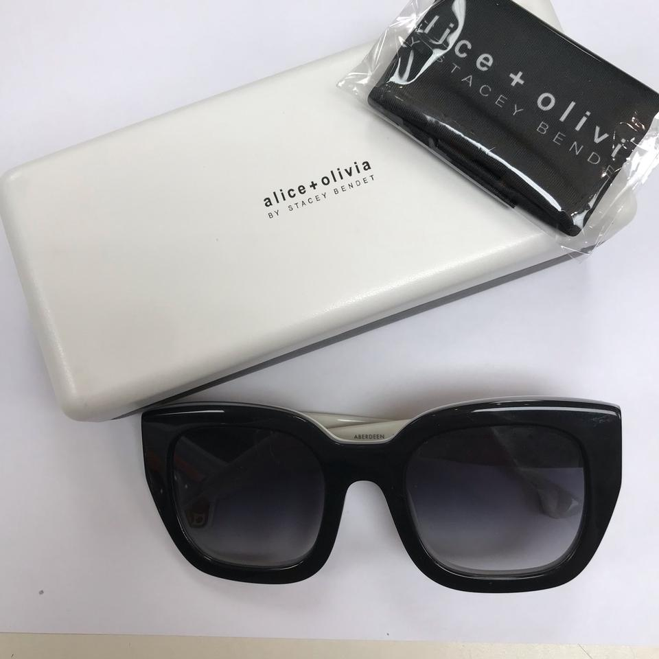 4c189ea29d ... Alice   Olivia ABERDEEN Black and White Sunglasses   New without tags!  12345678910