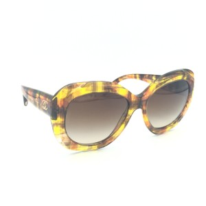 fba067bdbfd40 Chanel Chanel Yellow Brown Tortoise Butterfly Oversize Sunglasses 5323 1523
