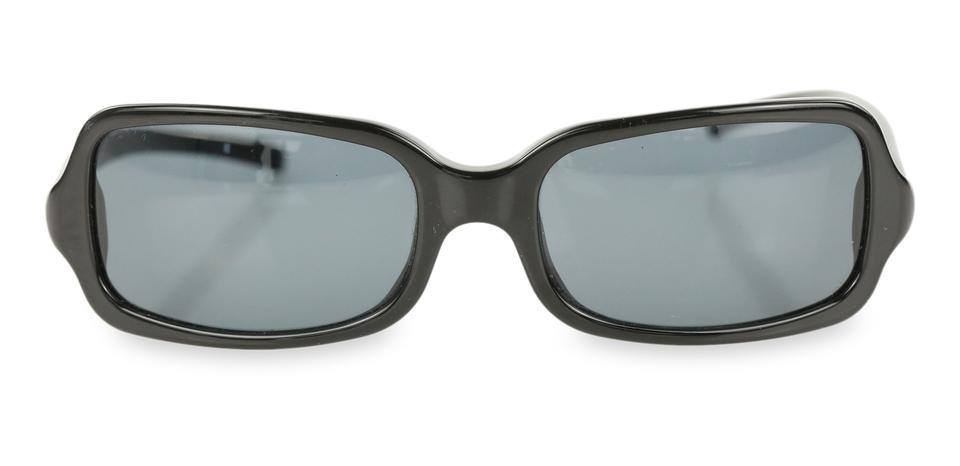 463a670cdbfa Prada Black Slim Rectangular Sunglasses - Tradesy