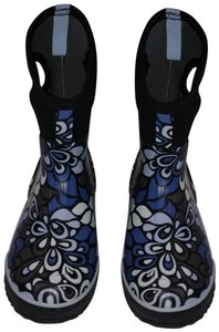 Bogs Insulated Waterproof Mod Design Handles Dark And White Blue Boots