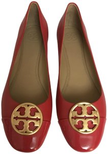 Tory Burch Chelsea Ballet Light Weight Comfortable Leather Red Flats