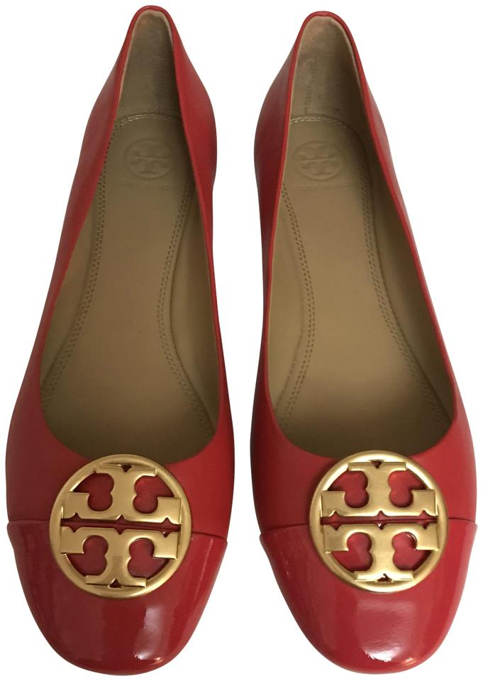 b9156d79c442 Tory Burch Red Chelsea Leather Ballet Flats. Size  US 9 Regular (M ...