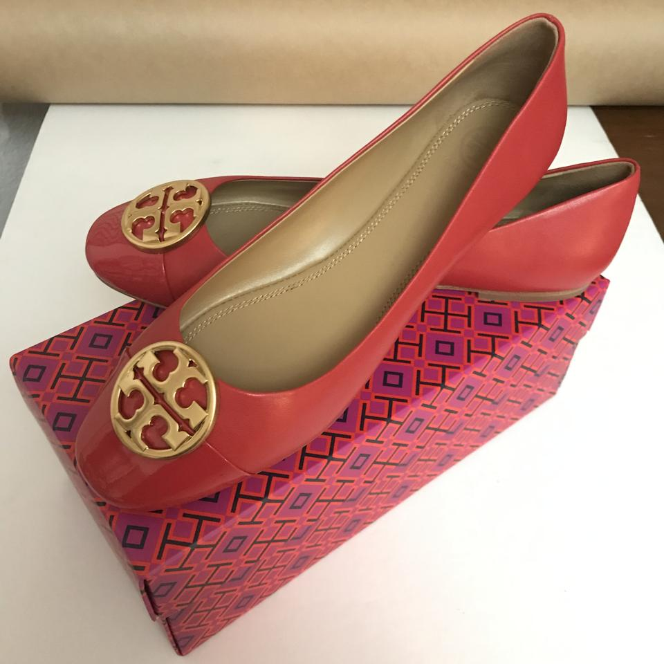 aca6808551fc Tory Burch Chelsea Ballet Light Weight Comfortable Leather Red Flats Image  8. 123456789. 1 ∕ 9