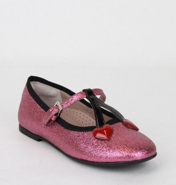 Item - Pink W Toddler Shimmer Fabric Ballet Flat W/Hearts 24/Us 8 433118 5860 Shoes