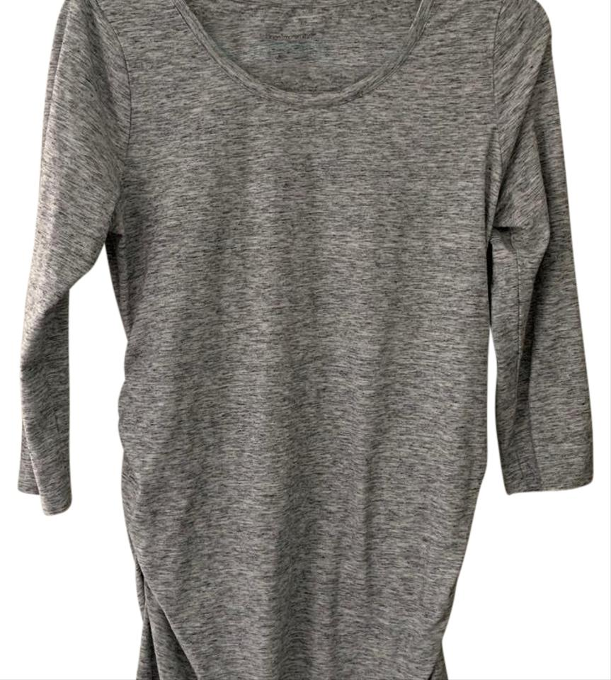 c51a9ee7da3a2 Liz Lange Maternity Heather Gray Fitted Maternity Dress Size 8 (M ...