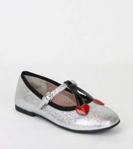 Gucci Silver Toddler Shimmer Fabric Ballet Flats 26/Us 10 433118 8167 Shoes