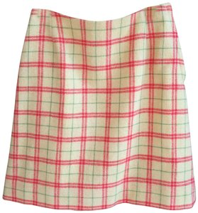 Villager Preppy Vintage Plaid Pencil Classic Mini Skirt Yellow, Coral, Green