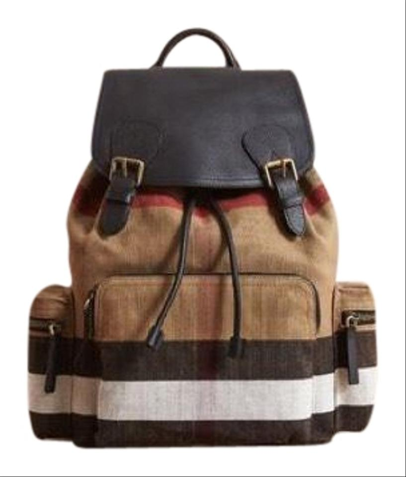 b679b16b13e0 Burberry Nwot Leather and Canvas Large Rucksack Backpack - Tradesy