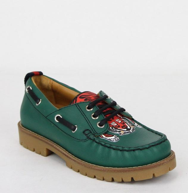 Item - Green W Toddler Leather Loafer W/Red Animal Print 33/Us 1.5 455436 3162 Shoes
